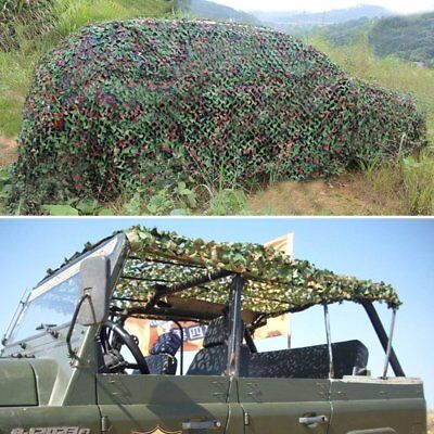 Camping Military Hunting Woodland leaves Camouflage Camo Army Net Netting Hot LN