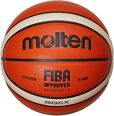 6x Molten Basketball BGG7X-DBB BGG6X-DBB Ball package Competition FIBA DBB-Logo