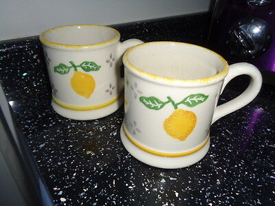 Laura Ashley Summer Fruits Mugs X 2 - Lemon