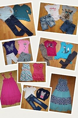 HUGE LOT OF GIRL CLOTHES size 7 8 7/8 school NICE JUSTICE Red Camel ++More