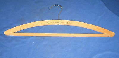 Vintage Wooden Coat Hanger 'The Old Ship Hotel - Brighton'