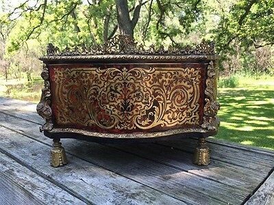 Antique french 19th century Boulle jardiniere. Gilt bronze and tortoise