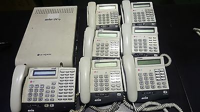 LG, Ericsson Aria-24ip (A) PSTN Line Analogue Phone System with 7 x Handsets
