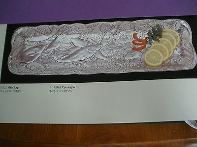 "1985 Arthur Court Fish Tray SEALIFE COLLECTION #10-322 19""x6"""