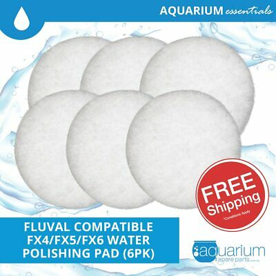6x Fluval FX5/FX6 Compatible Water Polishing Pads