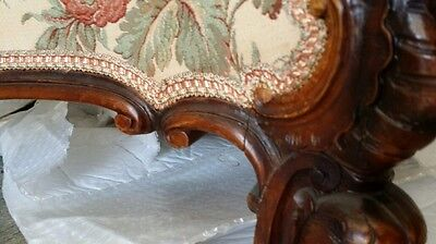 Italian Carved Settee Sofa  and 2 Wing Chair