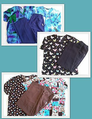 Cherokee Women's Scrub Lot Large 5 tops, 3 pants NWT & new, never worn