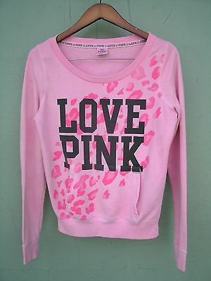 Victoria's Secret PINK Love Pink Long Sleeve Pink Sweatshirt Size Small