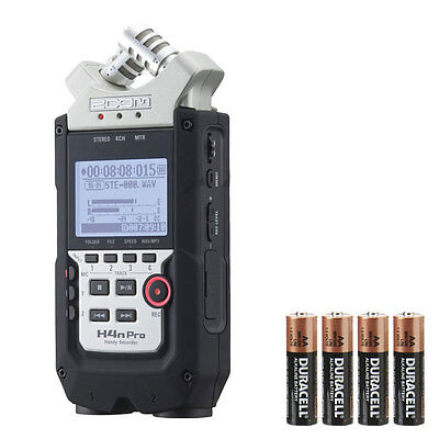 Zoom H4N Pro with 4 FREE AA Batteries