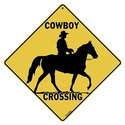 Cowboy Crossing Sign NEW 12X12 Silhouette