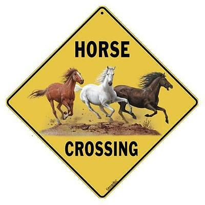 Horse Crossing Sign NEW 12x12 Metal