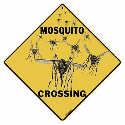 Mosquito Crossing Sign NEW 12x12 Metal
