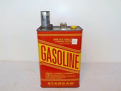 Vintage Stancan 1 Gallon Vented Gas Can Gasoline Can Pre Ban Built In Spout