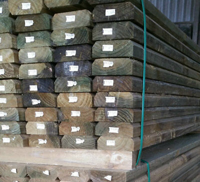 150x50 H4 Bevelled Pine Sleepers 2.4