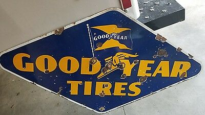 original Goodyear tires porcelain sign gas oil signs Good year