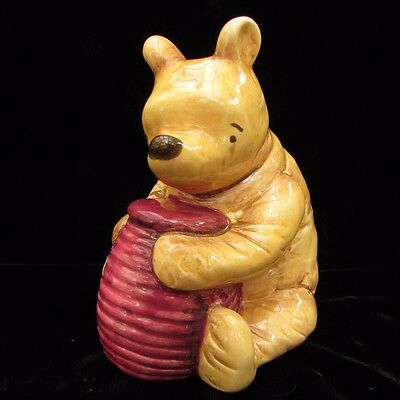 "Classic Disney Winnie The Pooh With Honey Pot Bank Charpente 5.5"" Ceramic"