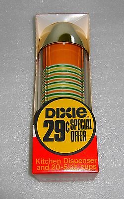 Vintage 1970 Retro Dixie Cup Kitchen Wall Mount Dispenser 5 Ounce Cup Size NOS