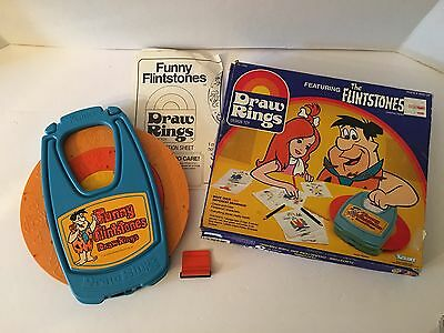 Vintage 1984 Kenner THE FLINTSTONES Draw Rings With Box