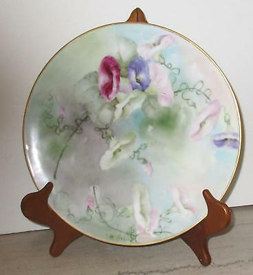 "Beautiful Antique Hand Painted Limoges Floral Charger - T & V 12"" Signed"