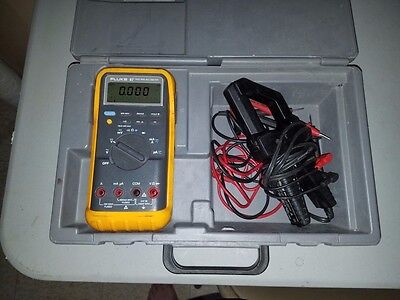 Fluke 87 True Rms Multimeter Kit With Case Excellent Condition