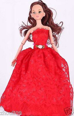 Children's toys Princess Party Dress/Evening Clothes/Gown For Barbie Doll  w1051