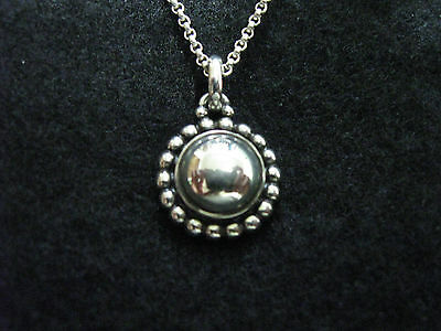 Georg Jensen Sterling Pendant / Necklace # 9A w/ Silverball Moonlight Blossom
