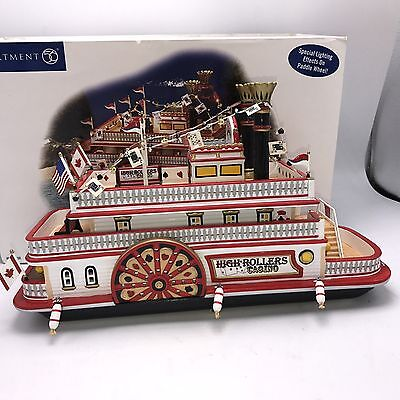 Dept 56 High Rollers Riverboat Casino Snow Village #55330 with Lights Retired