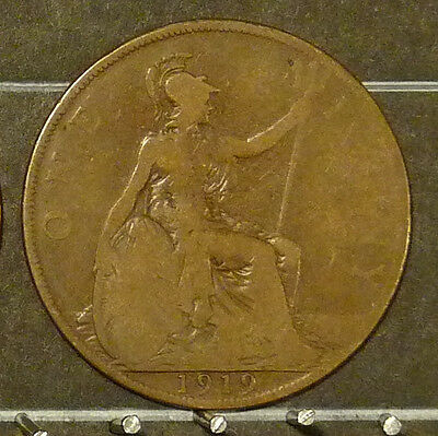 1919 Great Britain Large Penny  Coin     F89