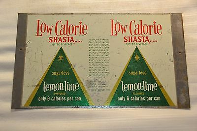 Shasta Low Calorie Lemon-Lime Soda Unrolled Flat Sheet Soda Can