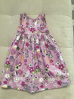 NWT Baby Gap Girl Purple Puffy Dress Size 4T Floral Cotton