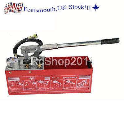 Manual Water Pressure Test Pump Hydraulic RP50 compatible with Rothenberger UK
