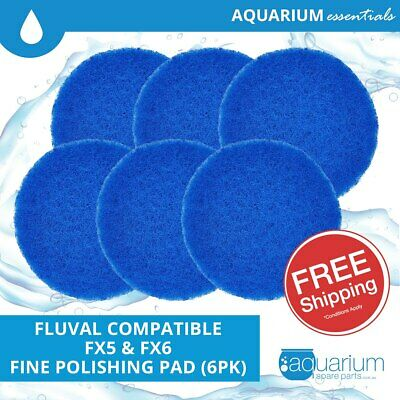 6x Fluval FX5/FX6 Compatible Fine Polishing Pads