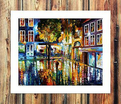 Autumn in the city HD Canvas Print Home Decor Paintings Wall Art Picture