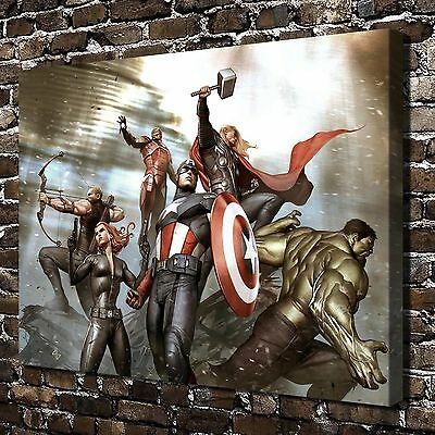 Marvel The Avengers Painting HD Print on Canvas Home Decor Wall Art Pictures