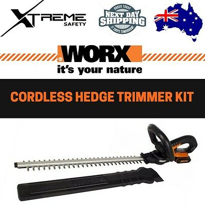 WORX 20V MAX Lithium-ion Cordless 52cm Hedge Trimmer Kit