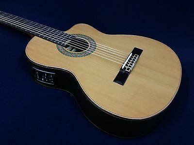 M Rosales 20CEQN Solid Top,Nylon String Classical Guitar w/EQ,Truss Rod+Free Bag