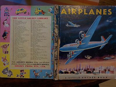 1950s (1954) Little Golden Book Airplanes