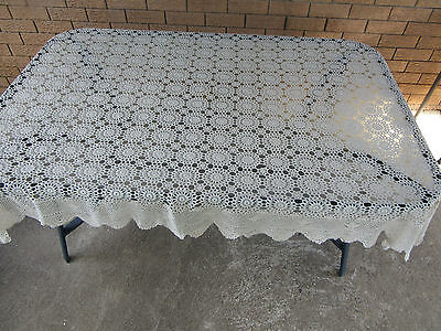Orem Handmade Crochet Tablecloth/Bedspred - Never Used 152cmx203cm - All Cotton