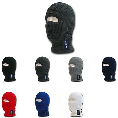 6 PACK DECKY Ski Face Mask FaceMask 1 Hole Balaclava Beanies Knit Wholesale Lot