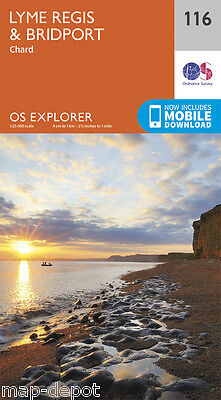Lyme Regis and Bridport Explorer Map 116 - OS - Ordnance Survey 2015