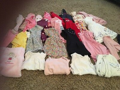 Large Baby Girl Clothes Bundle 3-6 And 6-9 Months