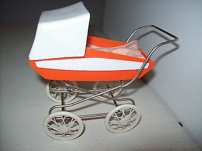 Puppenwagen DDR orange für Puppenstube