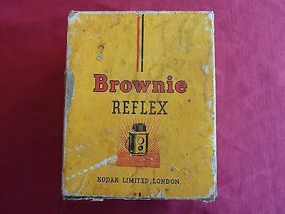 Old Vintage Collectable Kodie Brownie Reflex Camera BOX - used