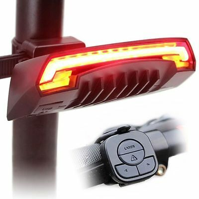 LED Bike Turn Signal Cycling Tail Rear Light Safety Warning Lamp Remote Wireless