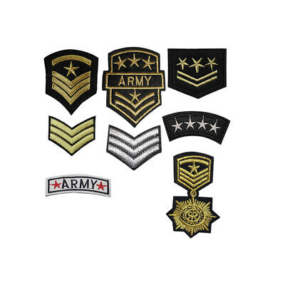 ARMY MILITARY Iron / Sew On Embroidered Patch Applique Embroidery Motif transfer