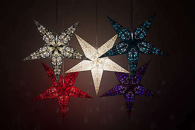 Lace Paper Star Light Shades, Ceiling Hanging Lampshades Christmas Decorations