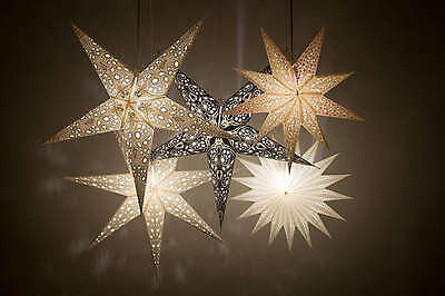 Deluxe Paper Star Light Shades, Hanging Ceiling Lampshades Christmas Decorations