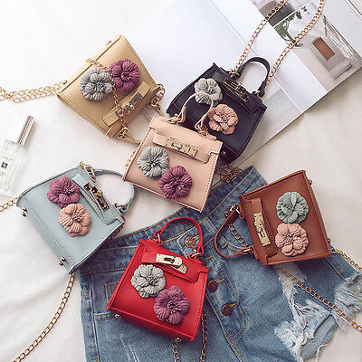 Delicate Lady Mini Floral Handbag Shoulder Bag Chain Messenger Crossbody Bags