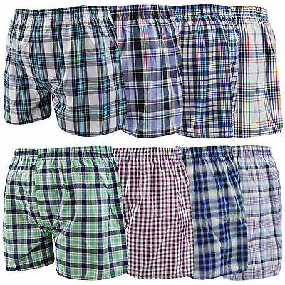 3 Mens Woven Classic Loose Style Boxer Shorts Cotton Underwear / All Sizes