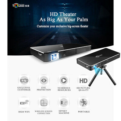 Toumei C800S Android Projektor 2 Wifi DDR3 Mini DLP Heimkino 1080P HDMI Airplay
